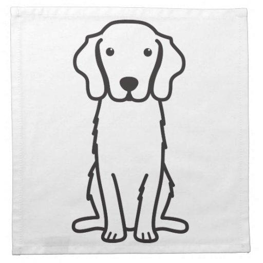 Dibujo animado tocante del perro del perro perdigu servilletas de papel