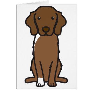 Dibujo animado tocante del perro del perro perdigu tarjeta de felicitación