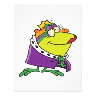 """dibujo animado tonto del animal de la reina de la  folleto 8.5"""" x 11"""""""