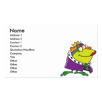 dibujo animado tonto del animal de la reina de la tarjetas de visita