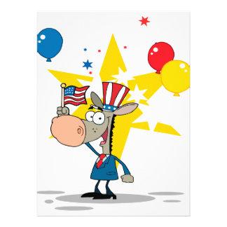 dibujo animado tonto del burro democrático patriót anuncio