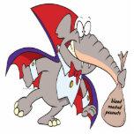 dibujo animado tonto del elefante del vampiro escultura fotográfica