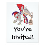 dibujo animado tonto del elefante del vampiro invitación 10,8 x 13,9 cm
