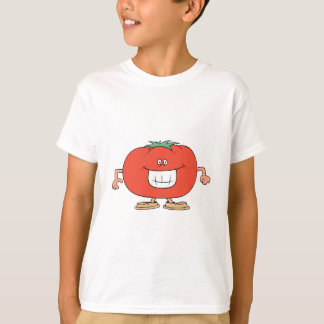dibujo animado tonto feliz del tomate remeras