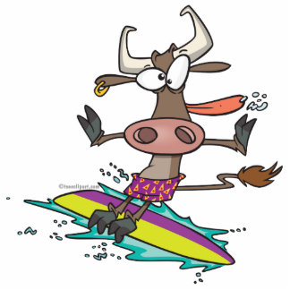 dibujo animado tonto lindo de la vaca de la person esculturas fotográficas