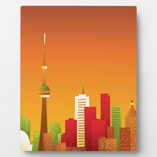 Dibujo animado Toronto Placa De Madera