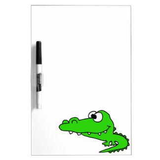 Dibujo animado torpe del cocodrilo pizarras