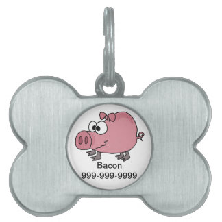 Dibujo animado torpe divertido del cerdo placa mascota