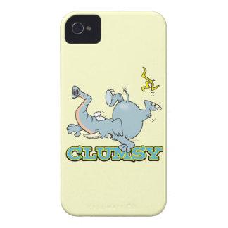 dibujo animado torpe lindo del elefante iPhone 4 coberturas