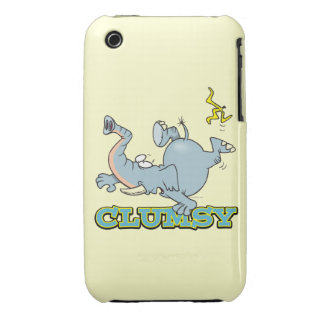 dibujo animado torpe lindo del elefante iPhone 3 fundas