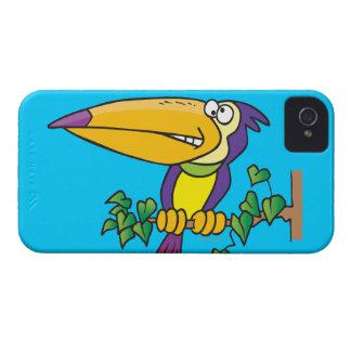 dibujo animado toucan tropical tonto Case-Mate iPhone 4 protectores