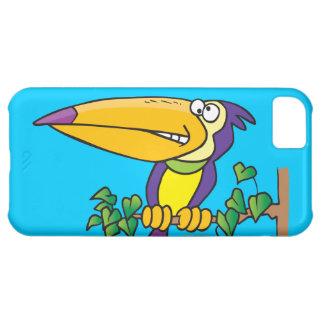dibujo animado toucan tropical tonto funda para iPhone 5C