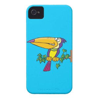 dibujo animado toucan tropical tonto iPhone 4 Case-Mate cárcasas