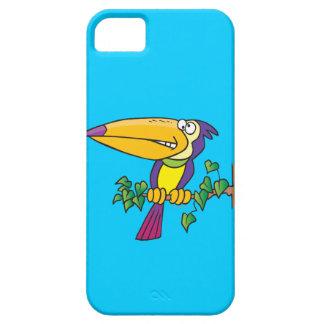 dibujo animado toucan tropical tonto iPhone 5 carcasas