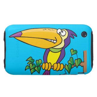 dibujo animado toucan tropical tonto tough iPhone 3 protector