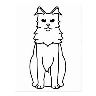 Dibujo animado turco del gato del angora postal