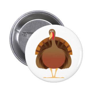 Dibujo animado Turquía Pin Redondo 5 Cm