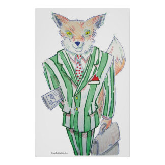 Dibujo animado urbano del Fox Posters
