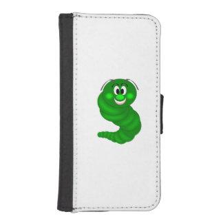 Dibujo animado verde de la oruga billetera para iPhone 5