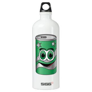Dibujo animado verde de la poder de soda