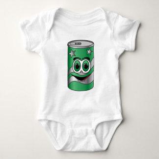 Dibujo animado verde de la poder de soda polera