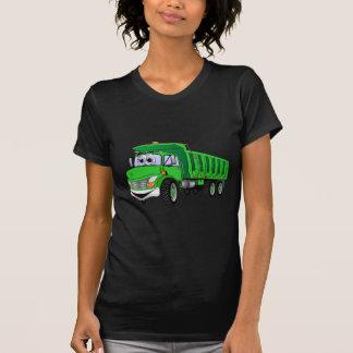 Dibujo animado verde del árbol del camión volquete camisetas