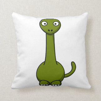 Dibujo animado verde del Brontosaurus Cojines