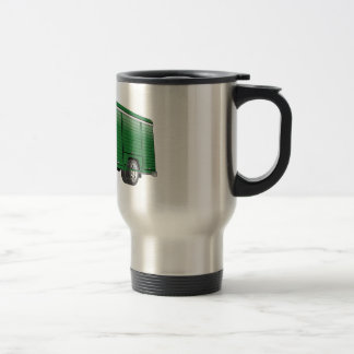 Dibujo animado verde del camión de la bebida taza de viaje de acero inoxidable