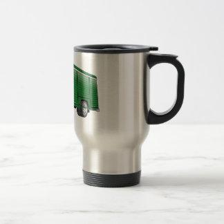 Dibujo animado verde del camión de la bebida taza térmica