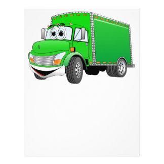 Dibujo animado verde del camión de reparto plantillas de membrete