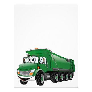 Dibujo animado verde del camión volquete 10w membrete