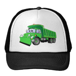 Dibujo animado verde del camión volquete gorras de camionero