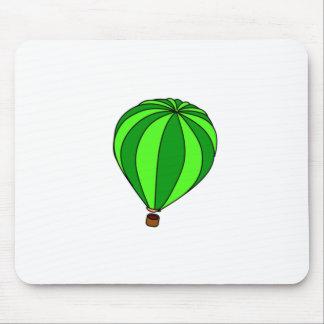 Dibujo animado verde del impulso del aire caliente alfombrilla de ratones