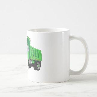 Dibujo animado verde del quitanieves tazas de café