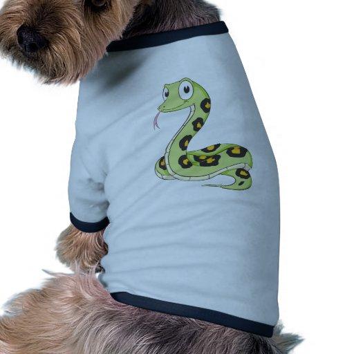 Dibujo animado verde lindo de la serpiente del Ana Ropa Para Mascota