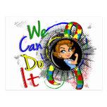 Dibujo animado WCDI de Rosie del autismo Tarjetas Postales