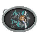 Dibujo animado WCDI de Rosie del cáncer de cuello  Hebillas De Cinturon Ovales