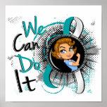 Dibujo animado WCDI de Rosie del cáncer de cuello  Posters