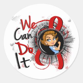 Dibujo animado WCDI de Rosie del SIDA Etiquetas Redondas