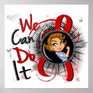 Dibujo animado WCDI de Rosie del SIDA Póster