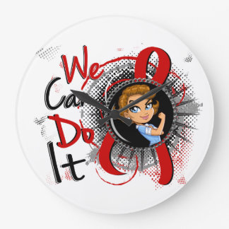 Dibujo animado WCDI de Rosie del SIDA Reloj De Pared
