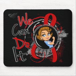 Dibujo animado WCDI de Rosie del SIDA Alfombrillas De Ratón
