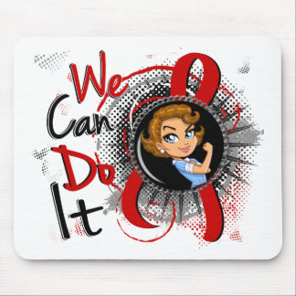 Dibujo animado WCDI de Rosie del SIDA Tapetes De Ratón