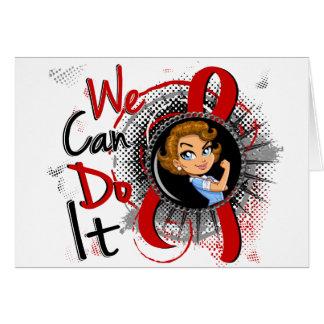 Dibujo animado WCDI de Rosie del SIDA Felicitacion