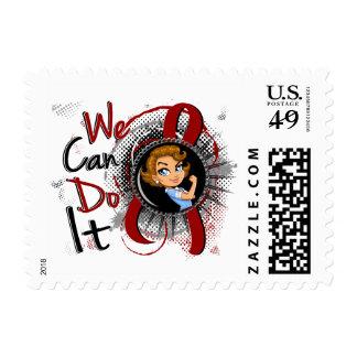 Dibujo animado WCDI.png de Rosie de la anemia de Sello Postal