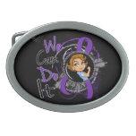 Dibujo animado WCDI.png de Rosie de la epilepsia Hebillas De Cinturón Ovales