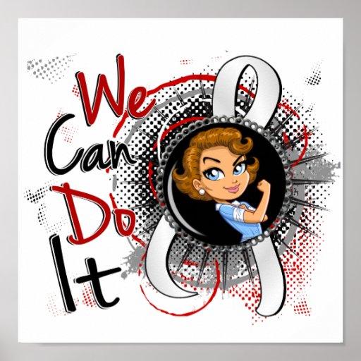 Dibujo animado WCDI.png de Rosie del cáncer de pul Poster