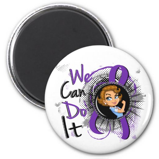 Dibujo animado WCDI.png de Rosie del Fibromyalgia Imanes