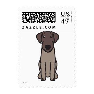 Dibujo animado Wirehaired alemán del perro del Estampilla