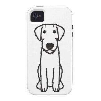 Dibujo animado Wirehaired alemán del perro del ind iPhone 4/4S Carcasas